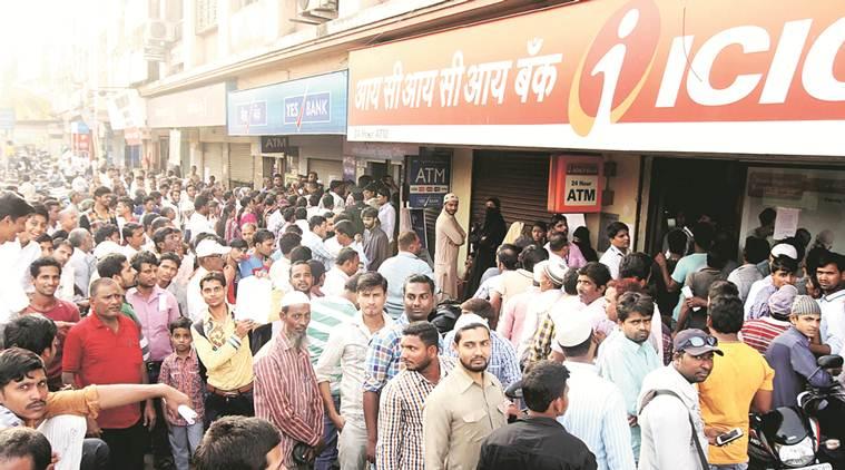 rush at atm system in mumbai
