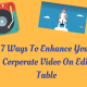 7 WAYS TO ENHANCE YOUR CORPORATE VIDEO ON EDIT TABLE