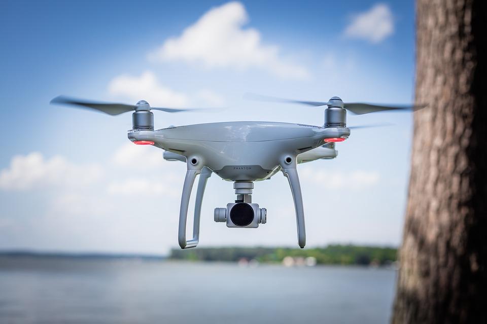 White Phantom 4 Drone Water Technology Aircraft