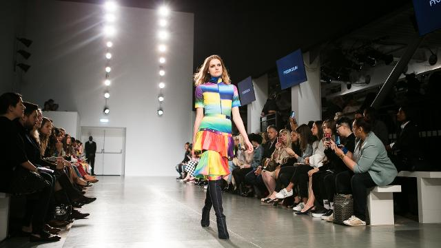 Shooting a fashion show
