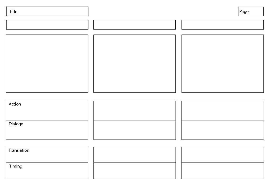 Storyboard or script