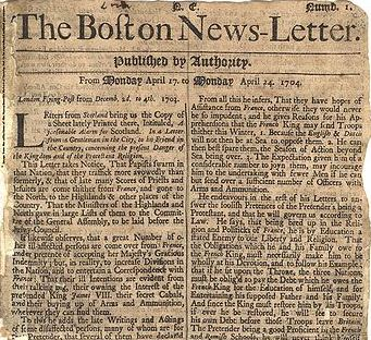 The Boston New- Letter - Oldest Newspaper