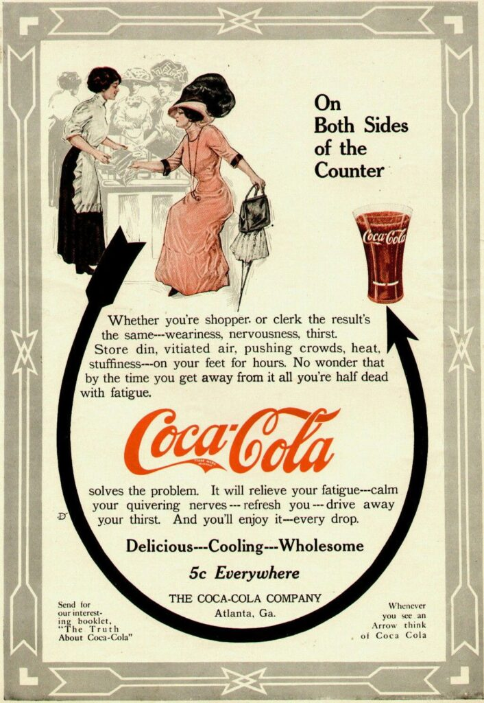 Coca-Cola advertising the product during 1911