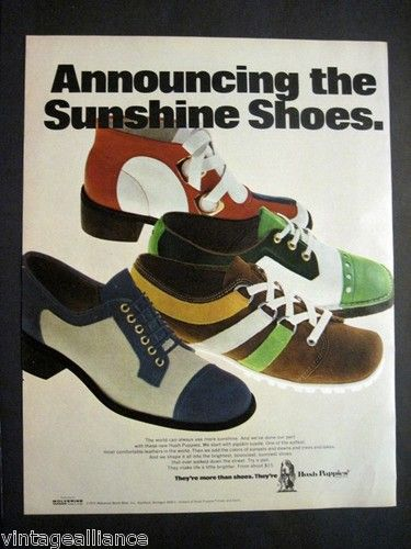 classic ad from 1972 by Hush Puppies