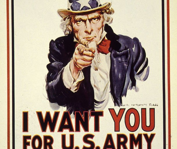 famous advertisement by the US Army
